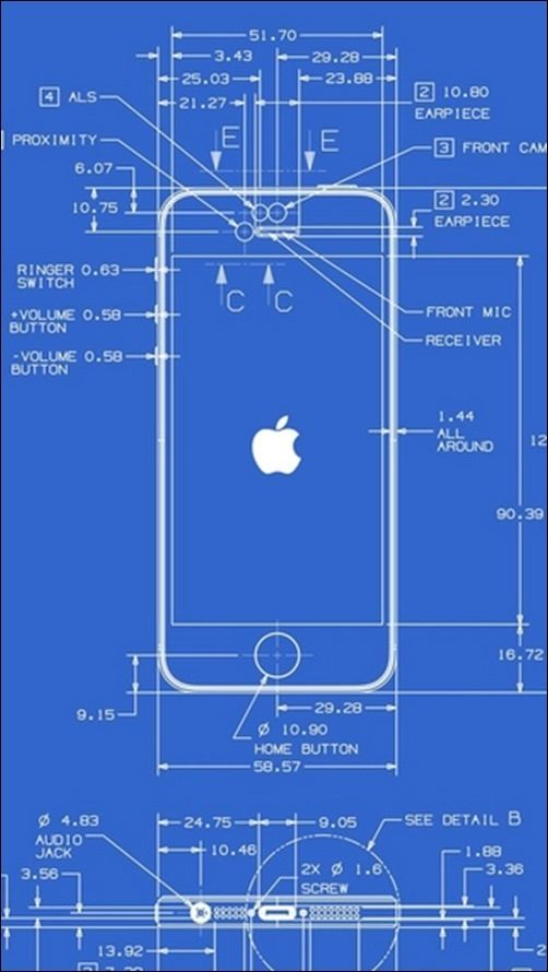 blueprint of iphone mais