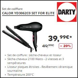 missbonreduction  20% de remise sur le set coiffure CALOR YD3062C0 SET FOR  ELITE eb1362a9a8c6