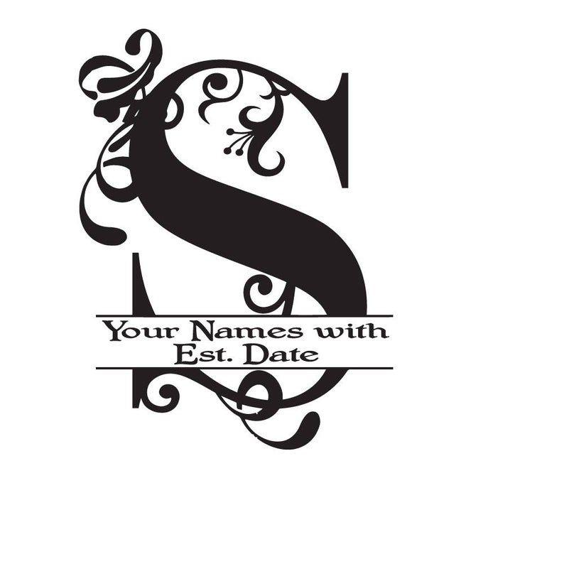 Large Vinyl Monogram Letter S Decal Split Letter Monogram Etsy In 2020 Monogram Letter S Vinyl Monogram Monogram Letters