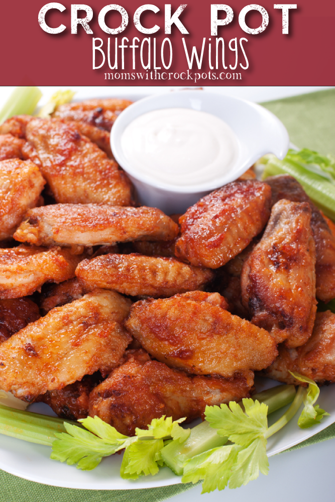 Crockpot Buffalo Wings Recipe - Moms with Crockpots