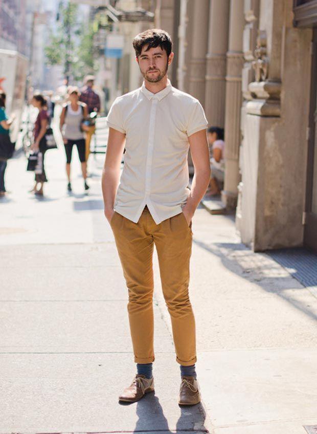Inspiracao Mostarda Estilo Hipster Masculino Camisa Masculina