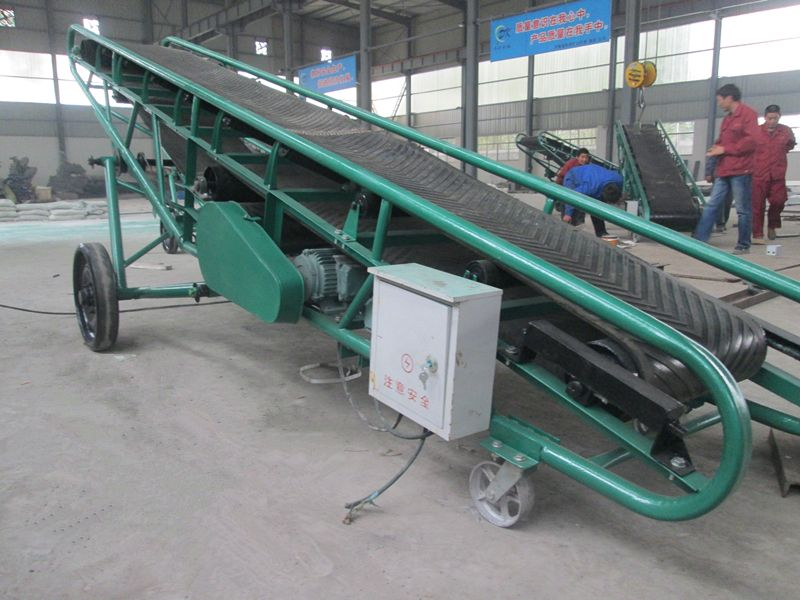 this is portable electrical belt conveyor,the width is 650mm,drum