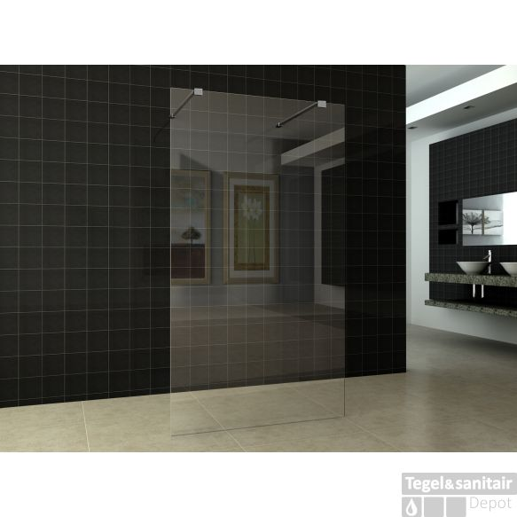 Douchewand 120x200cm Nano antikalk coating vrijstaand | Badkamer ...