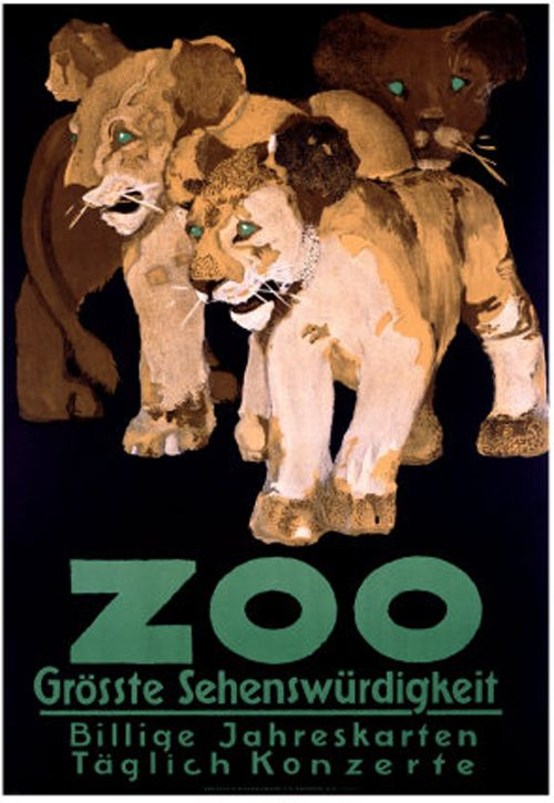 Carrie On Old Timey Zoo Posters Plakater