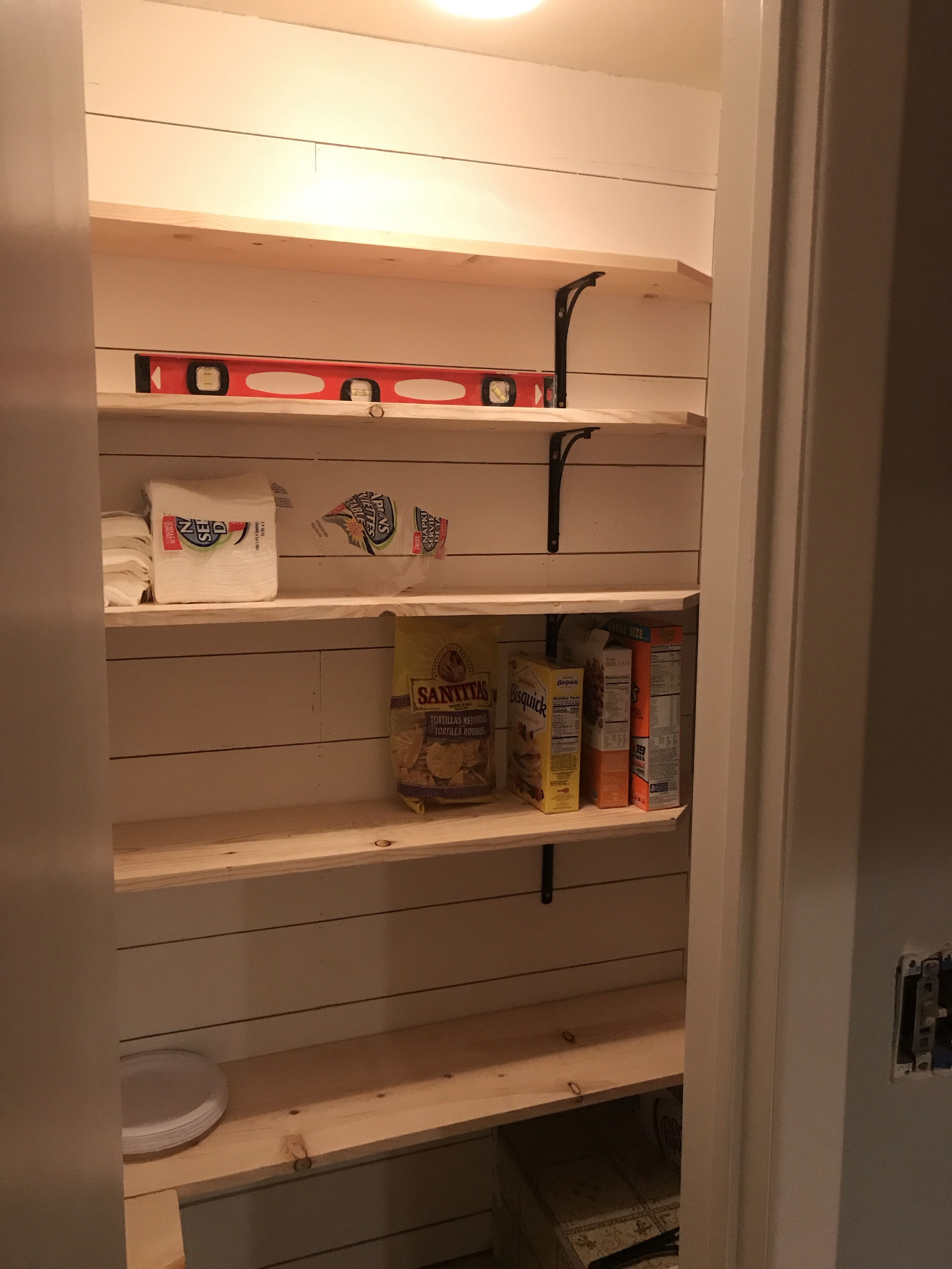 New Pantry Shelves With Images