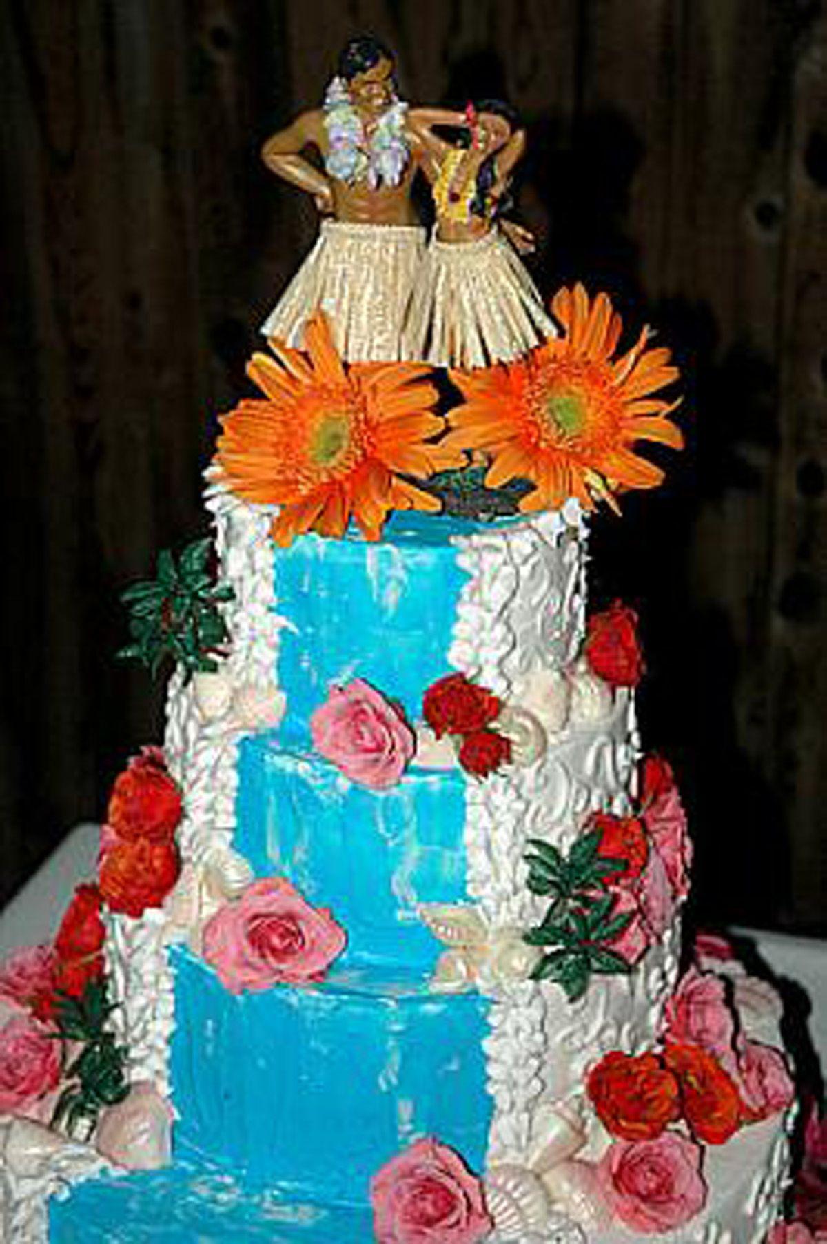 Hawaiianweddingcake Beautiful Hawaiian Wedding Cakeg
