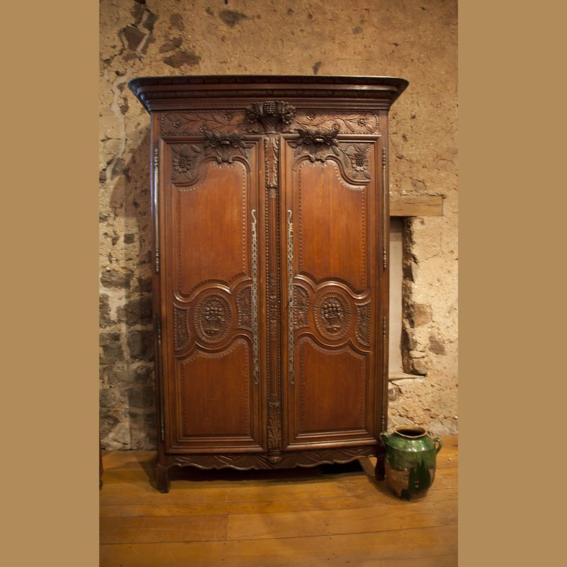 Country French And English Antique Furniture And Accessories   Cabinets    Antique U0026 Reproduction   Brides Dowery Armoire From The Normandy Region Of  France.
