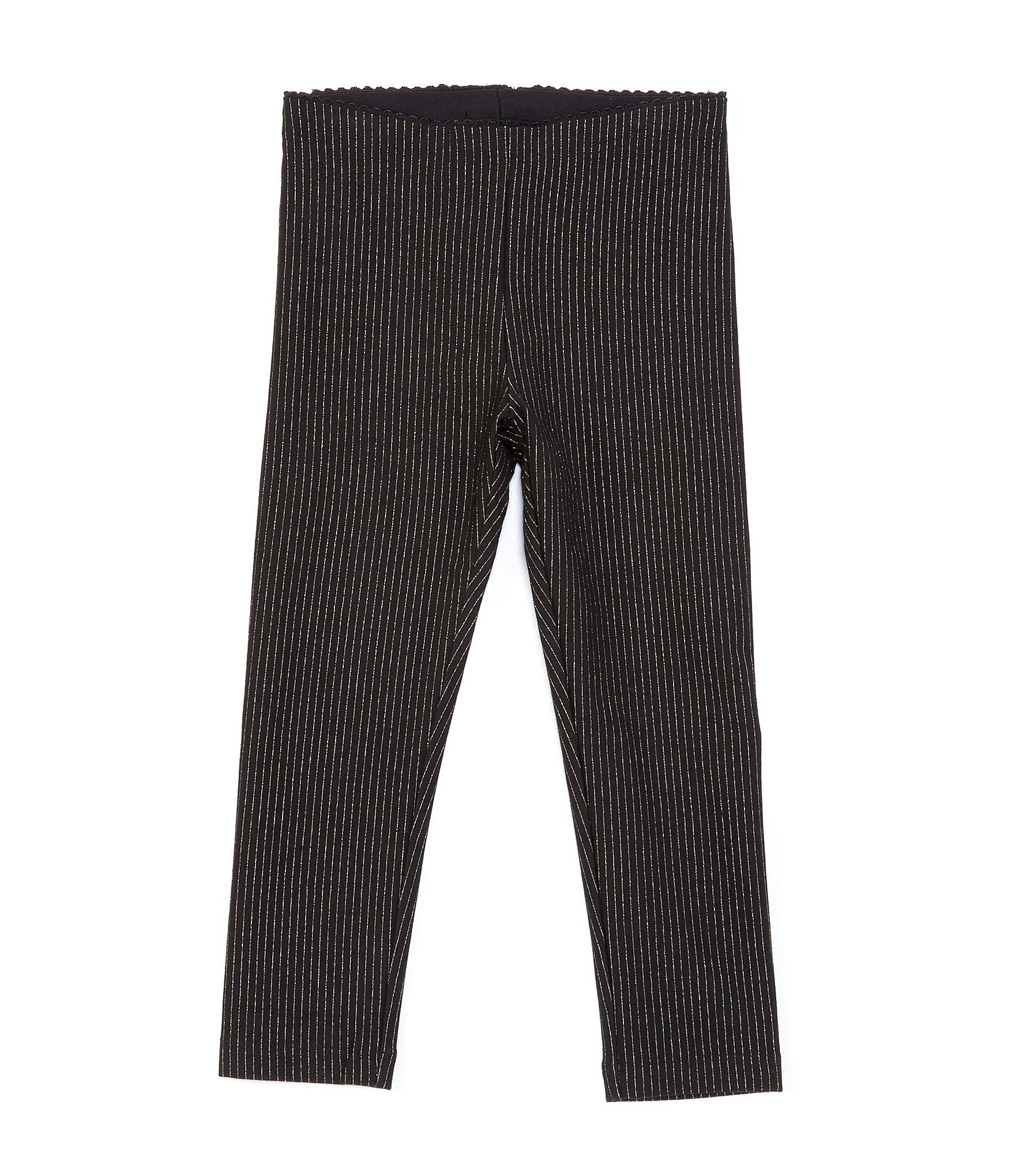 Tea Collection Little Girls 2-6 Sparkly Stripe Legging - Jet Black 6 #stripedleggings
