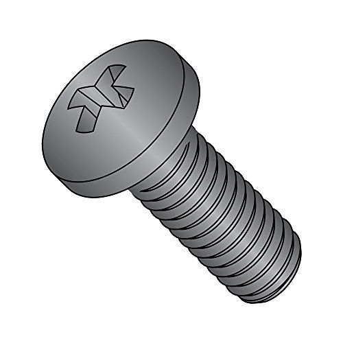 #2 Phillips Drive Imported Fully Threaded #6-32 Thread Size 5//16 Length 316 Stainless Steel Pan Head Machine Screw Pack of 5000 Meets ASME B18.6.3
