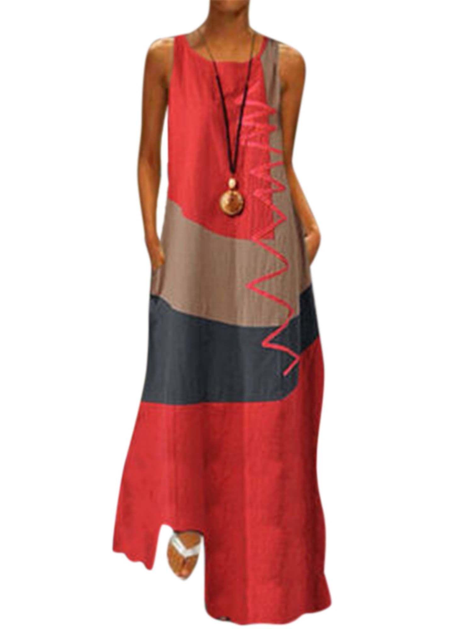 Lallc Women S Vintage Sleeveless Beach Maxi Dresses Plus Size Summer Loose Sundress Walmart Com In 2021 Maxi Dress Long Maxi Dress Women S A Line Dresses [ 2000 x 1500 Pixel ]