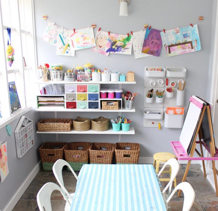Clever And Creative Ideas For The Ultimate Playroom: How To Create Perfect Kids' Craft Corner