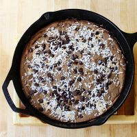 crazy healthy good chocolate chip pan cookie