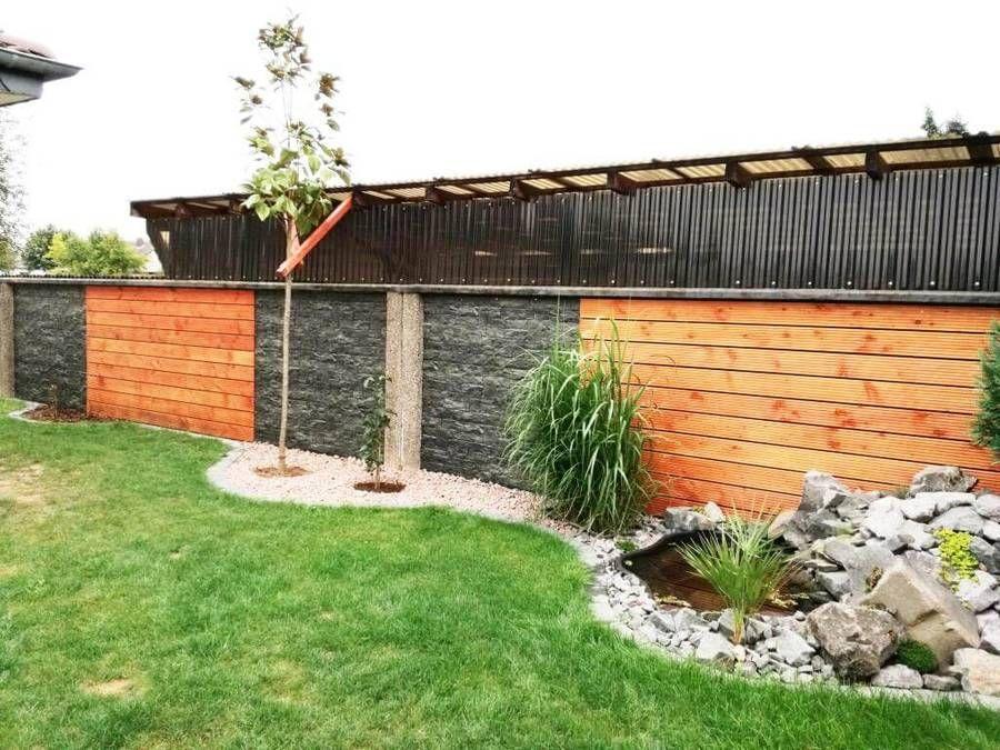 Mauerverkleidung Im Aussenbereich Aus Kunststoff Mauerverkleidung Gartengestaltung Wandgestaltung Gartenmauer