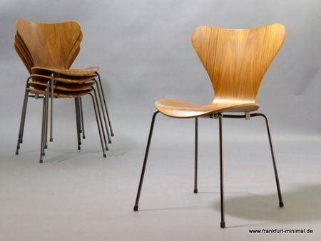 Arne Jacobsen für Fritz Hansen, Stuhl 3107 nuss natur ...