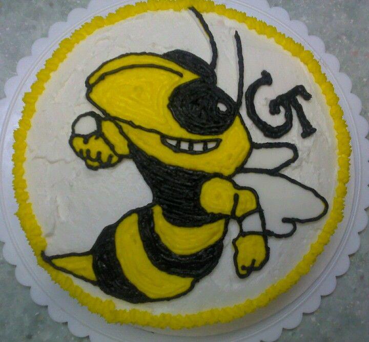 GA Tech Cake (With images) | Cake decorating, Cake, Georgia tech