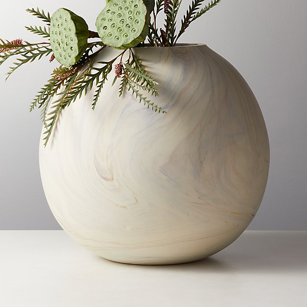 Sagen Round Glass Vase | CB2