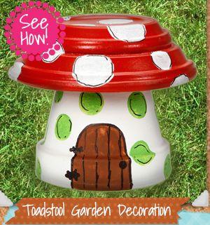 Toadstool Garden Decoration Jardin Pinterest Zeleninova