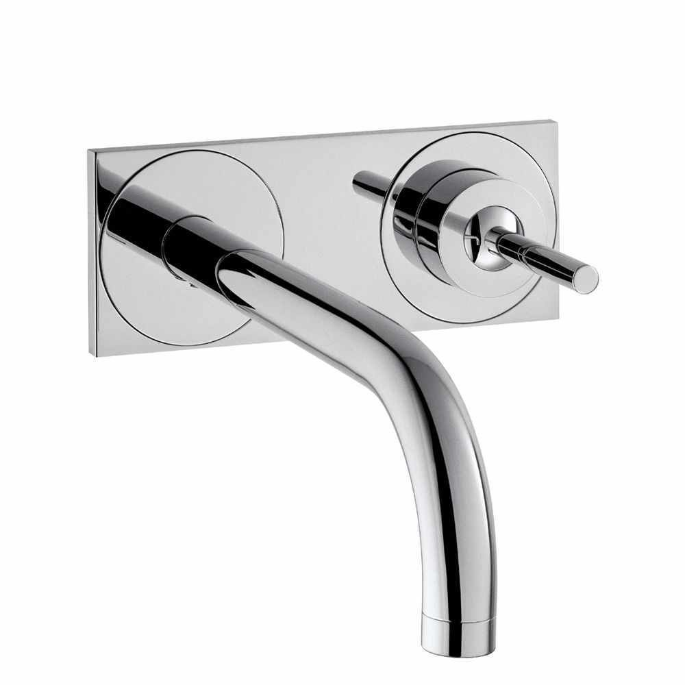 hansgrohe axor uno wall mounted basin mixer with back. Black Bedroom Furniture Sets. Home Design Ideas