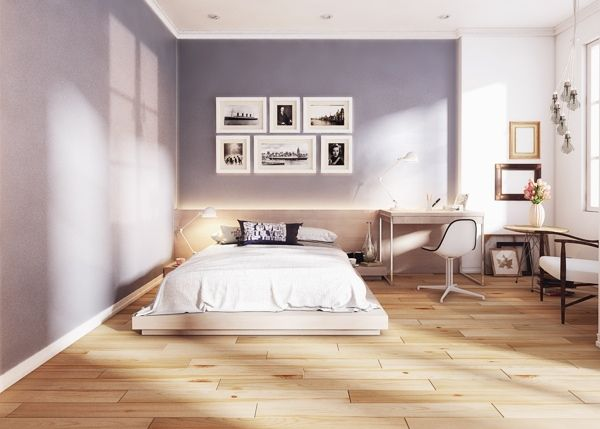 Awesome Chambre Sol Gris Clair Photos - Design Trends 2017 ...