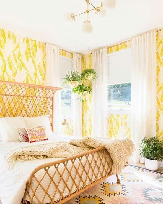 Un lit en osier pour une déco bohème For the Home Pinterest