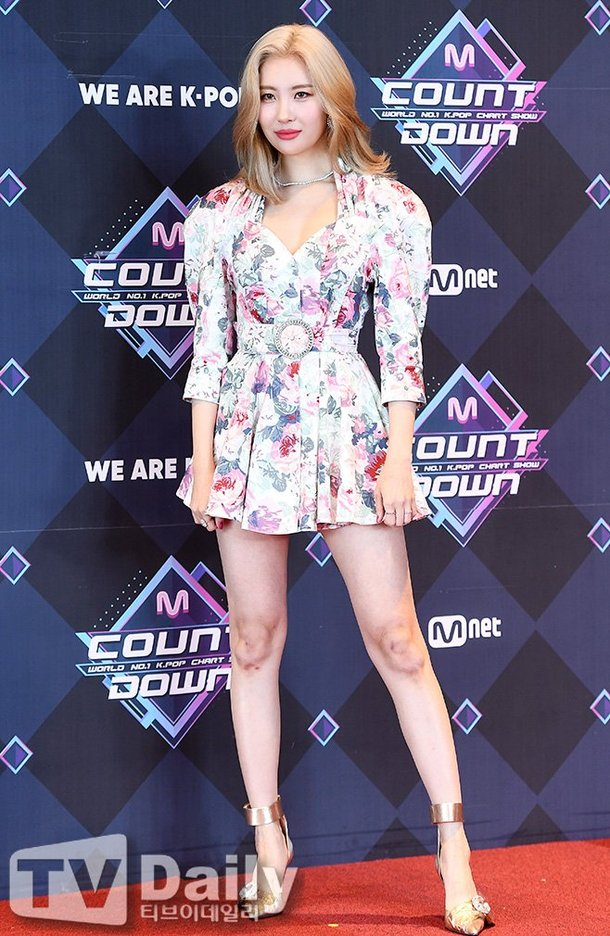 Sunmi Seen With Heavy Bruising On Her Knees Fashion Long Sleeve Dress Casual Dress