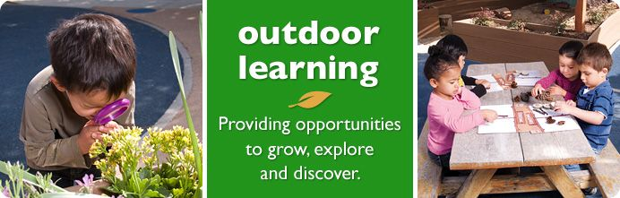 Learning activities outdoors for the kids.  Something to do over the summer
