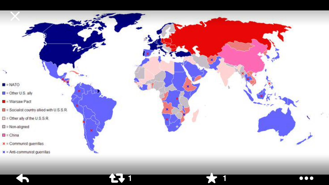 World map during cold war geographical maps pinterest cold war world map during cold war gumiabroncs Choice Image