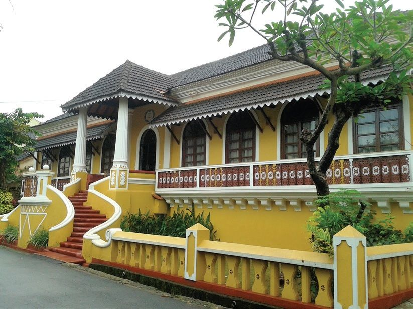 Demystifing Goan Houses House Front Design Facade House Indian Homes