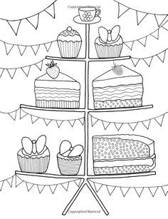 colouring book cakes and tea pinterest - Google Search