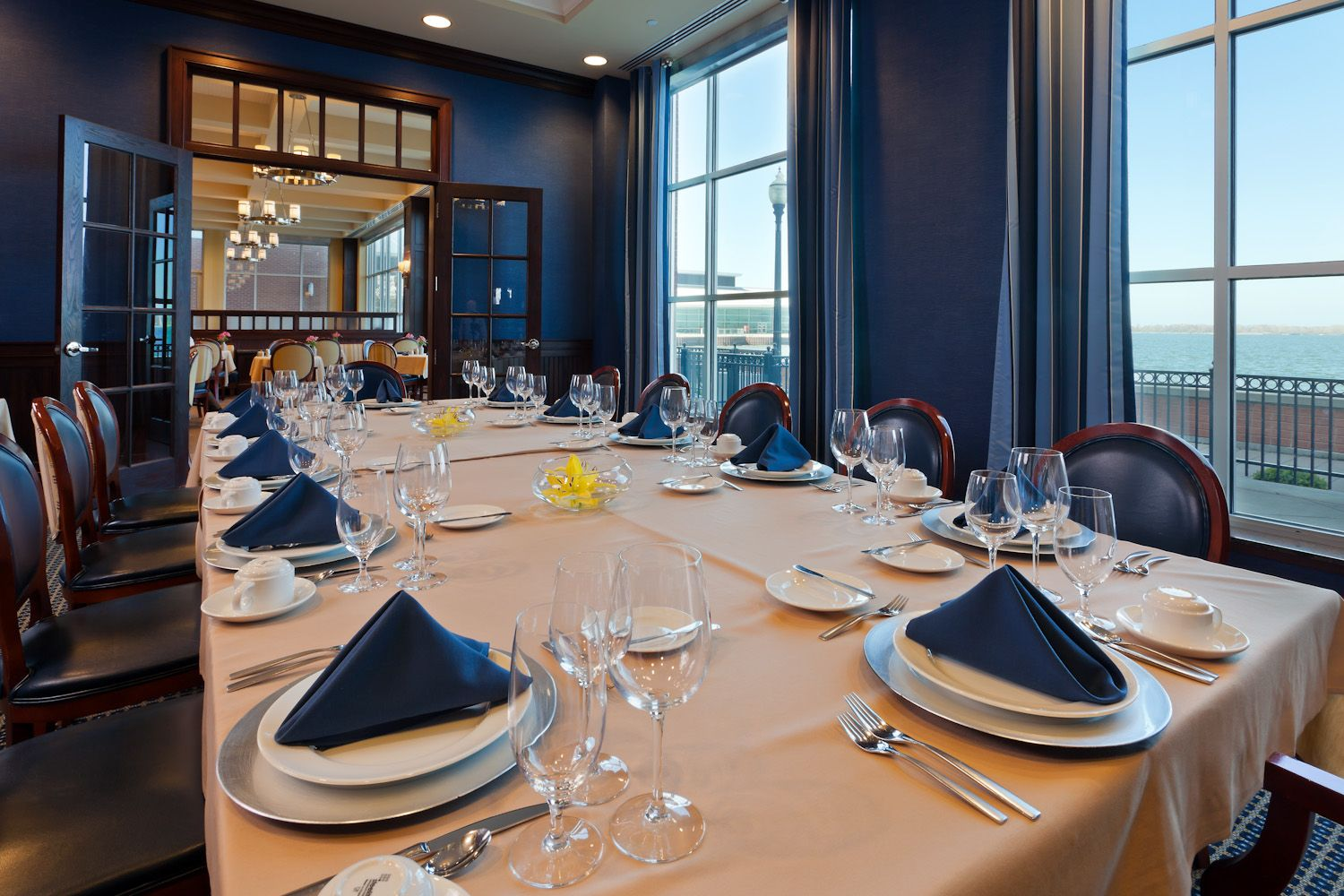 The Private Dining Room in the Bayfront Grille in the
