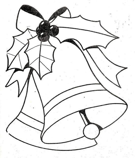 Dibujos y Plantillas para imprimir: Campanas navidad | Navidad ...