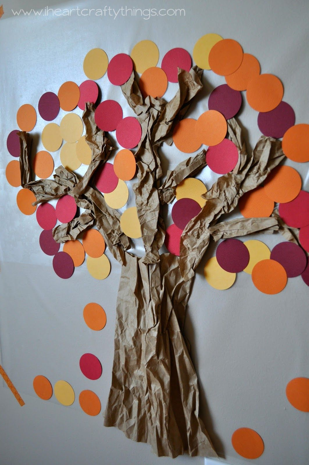 Contact Paper Sticky Wall Fall Tree Fall Crafts Fall Crafts For Kids Fall Crafts Diy