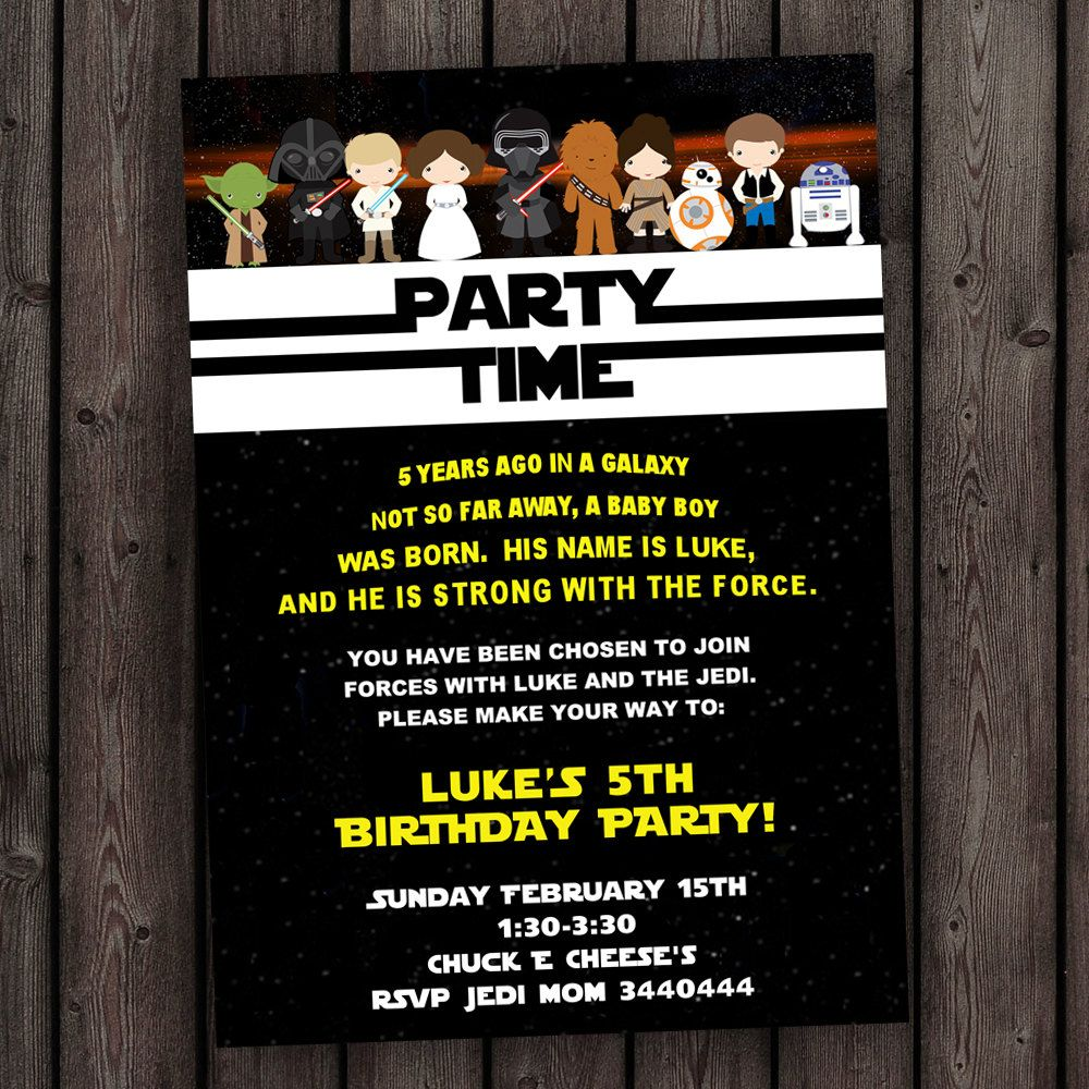 Star Wars Birthday Invitations Target