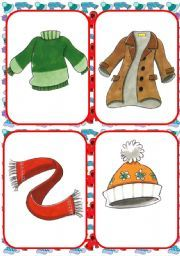 winter clothing flashcards preschool winter pinterest worksheets winter and clothes. Black Bedroom Furniture Sets. Home Design Ideas