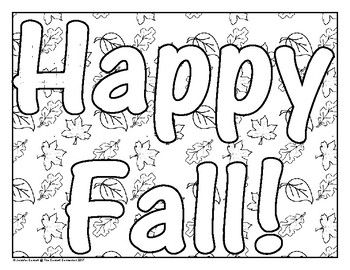 coloring pages fall themed | Fall Themed Coloring Pages | Autumn theme, Fall coloring ...