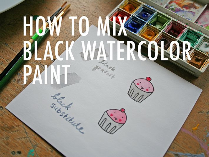 Paint It Black A Handy Trick For Mixing Black Watercolor Paint
