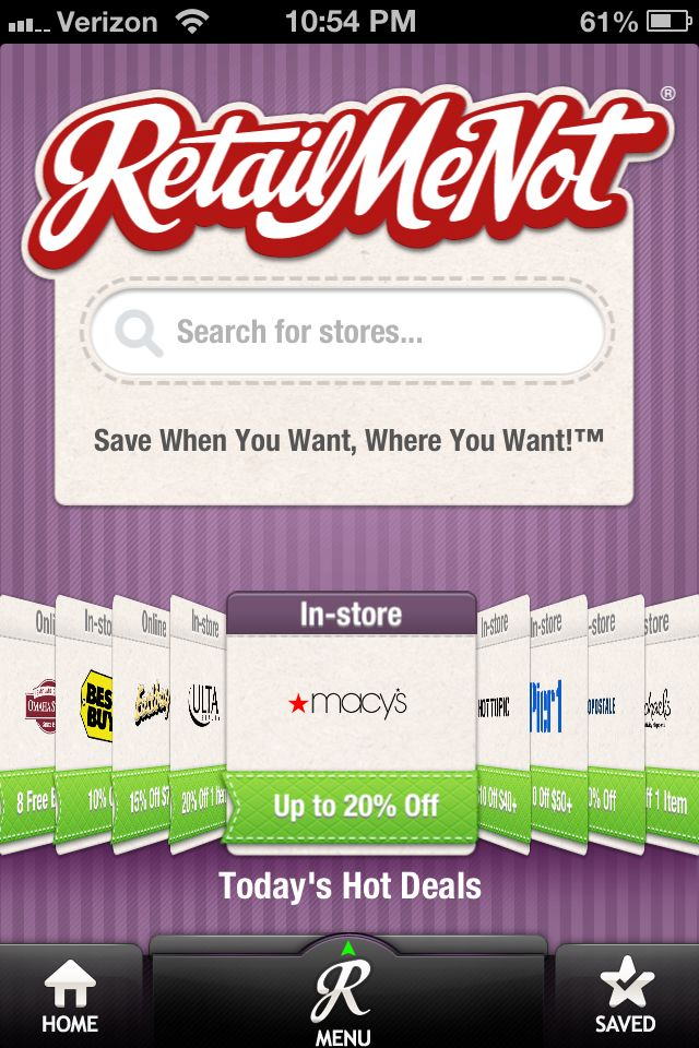 Retail me not Great website with lots of promo codes for online purchases!