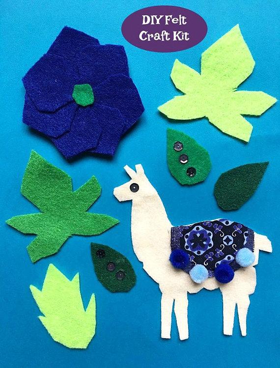 Felt Llama Craft Kit DIY Craft Llama Art Nursery