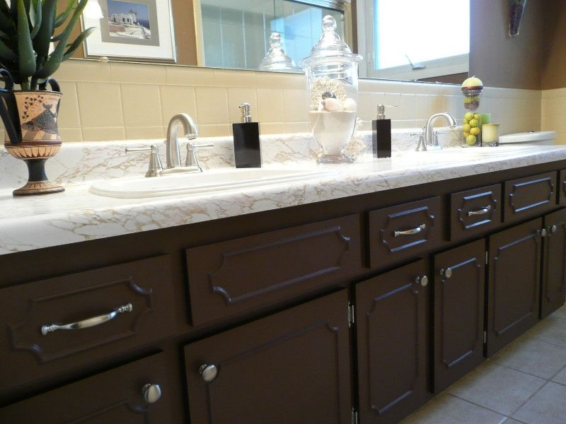 Bathroom, Painting Bathroom Cabinets: Tips And Tricks: Bathroom Cupboards  After Painting