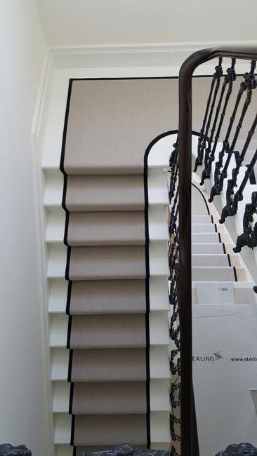 Stairs Flat Weave Grey Carpet In 2020 Carpet Stairs Grey Carpet Black Carpet