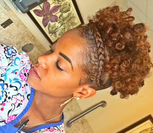 50 Cute Updos For Natural Hair Hair Pinterest Short Natural