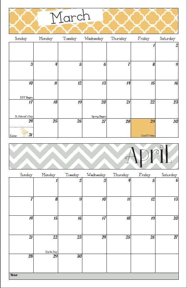 17 Best images about Printable Calendars on Pinterest | Free ...