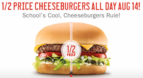 Sonic Drive In 1 2 Price Cheeseburgers 8 14 Cheeseburger Sonic Drive In Burger And Fries