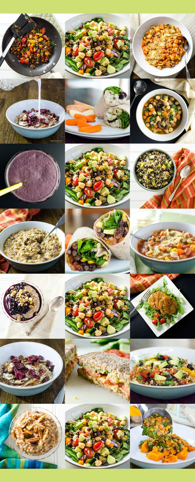 This Easy One Week Plant Based Meal Plan Helps You Stay