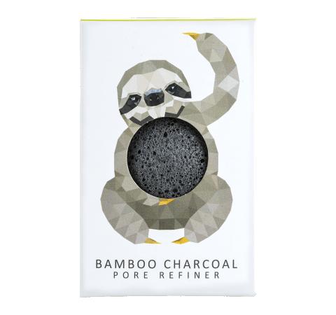 The Konjac Sponge Co Mini Sponge Gift Box Bamboo Charcoal Rainforest Sloth Fettige Haut Gesichtsreinigung Schwamme