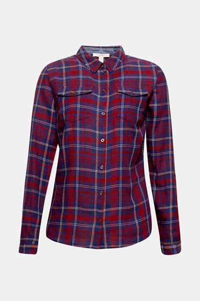 Flanellhemd Mit Metallosen 100 Baumwolle Check Patterns Shirts