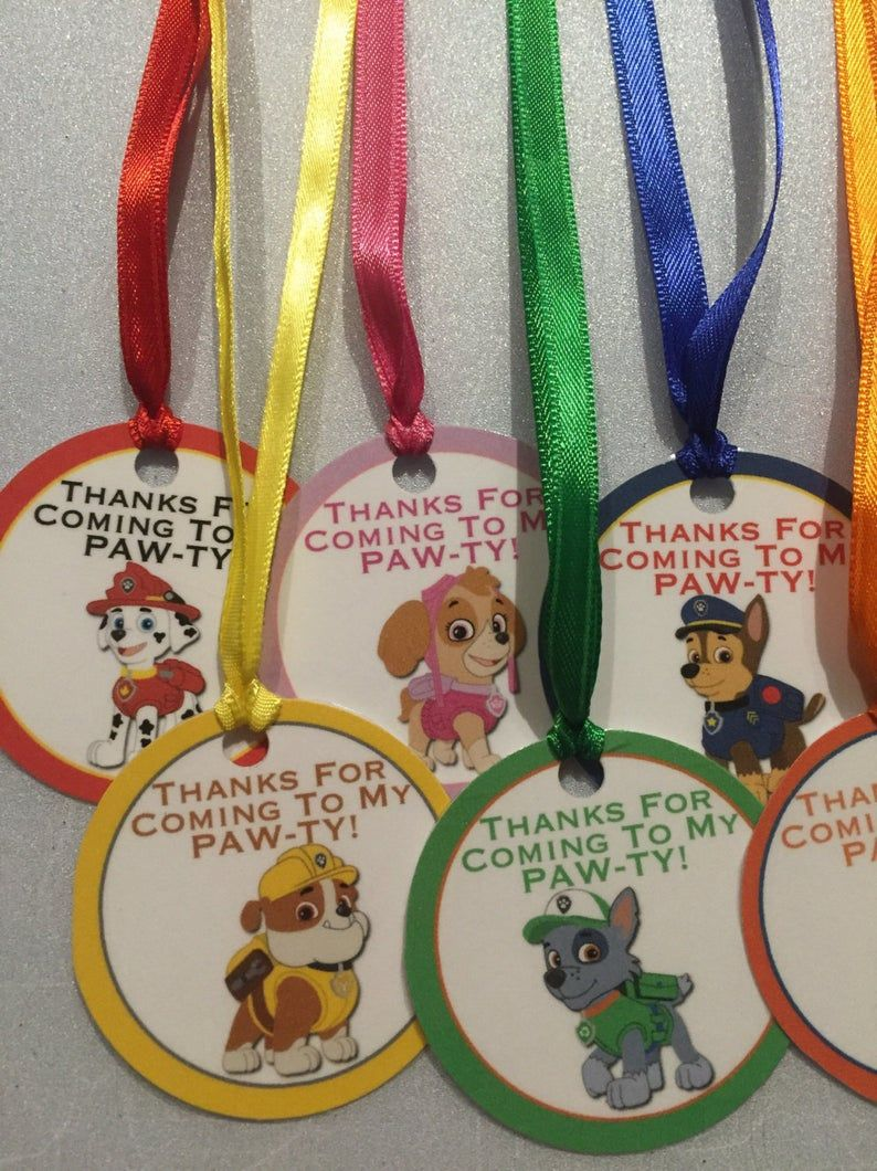 Paw patrol thank you tags, paw patrol birthday party, paw patrol party favors, paw patrol birthday, - Paw patrol birthday, Paw patrol party decorations, Paw patrol party favors, Paw patrol birthday party, Paw patrol decorations, Paw patrol party - Set of (7) 2  circle thank you tags  Each tag is laminated and hung with 12  ribbon folded in half for you to tie to your party favor Please note that selecting priority shipping or express shipping does not speed up the processing time for the order, it only speeds up the shipping time  My orders are processed in the order they are received  If you would like the processing time to be quicker you will need to purchase the rush order listing and that will move your order up to the front of the line to be processed