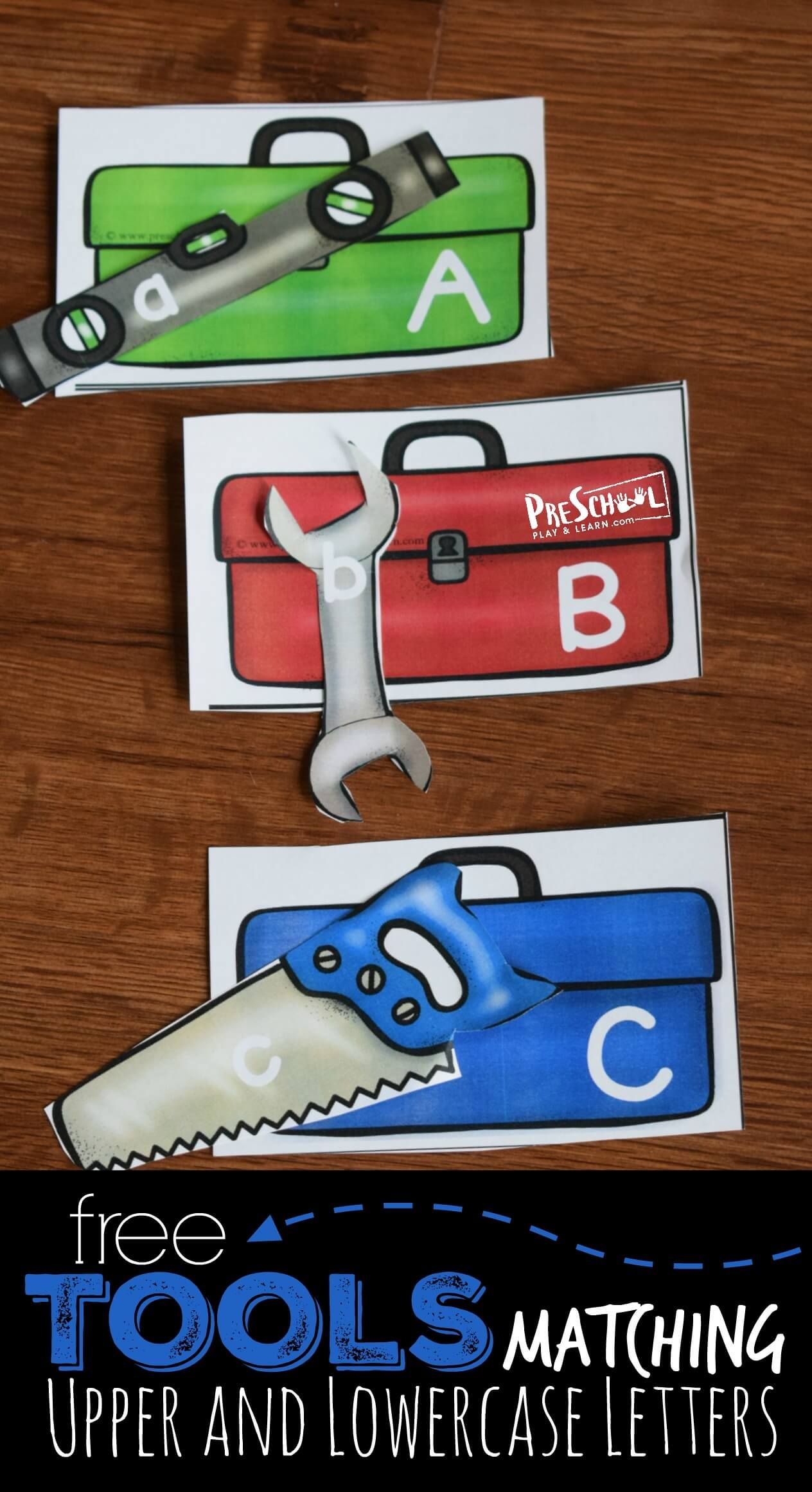 Tools Upper And Lowercase Letters Matching