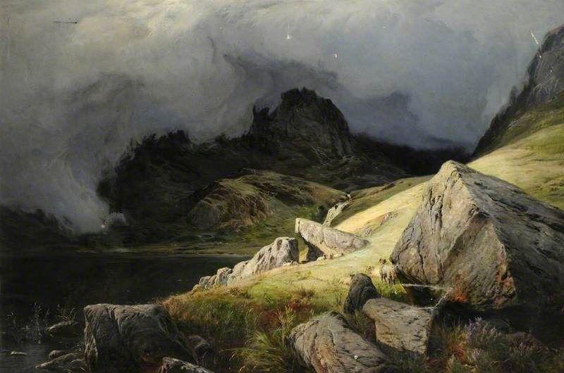 Coniston Lake Cumbria Sidney Richard Percy English 1821 1886 Oil Painting Landscape Landscape Art Artwork Painting