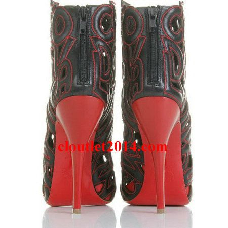 Discount Christian Louboutin Booties Let Me Tell You Ankle Red B